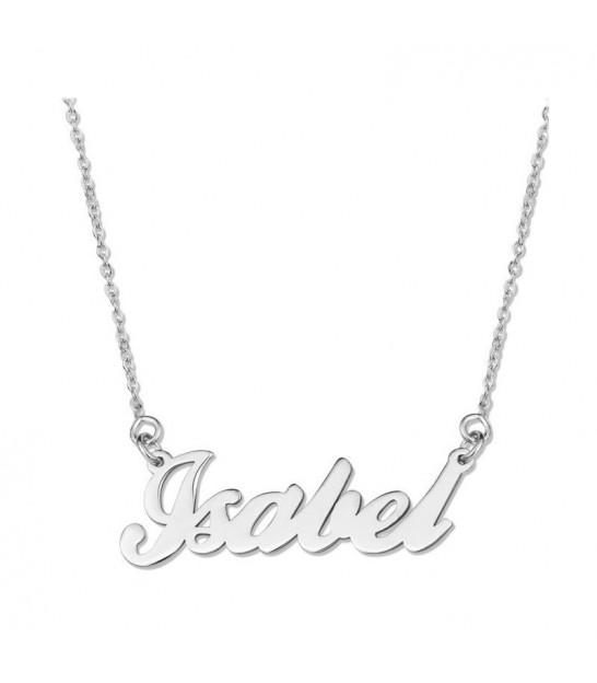 "Collaret Personalizable Plata ""Carrie """