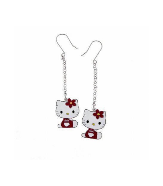 Pendientes Plata Hello Kitty Originales