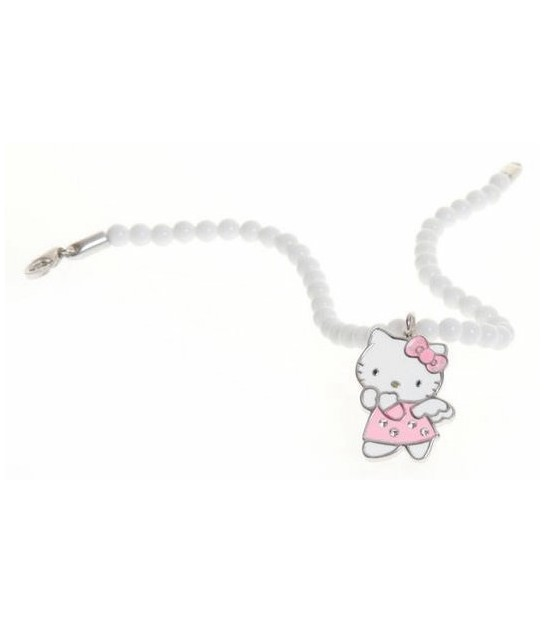 Polsera Hello Kitty plata i esmalt