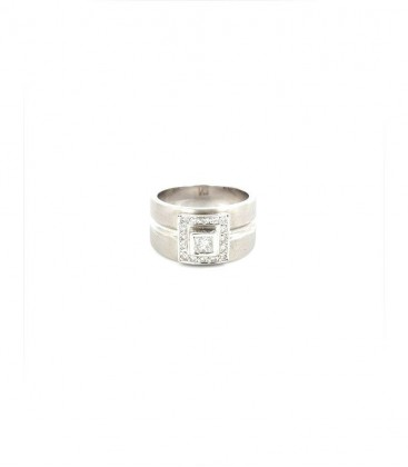 Anell Or Blanc 18KT 16 Diamants