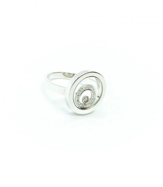 Anell Or Blanc 18KT 12+1 Diamants