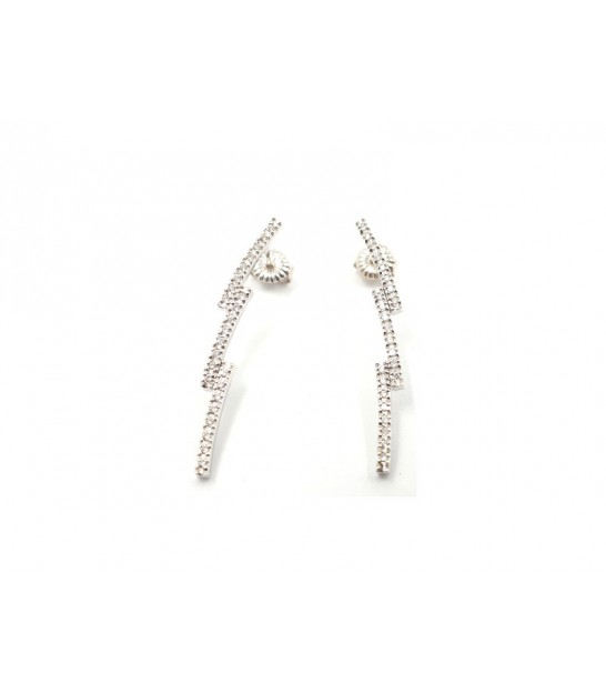Arracades Llamp Or Blanc 18kt Diamants